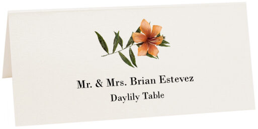Photograph of Tented Daylily Place Cards