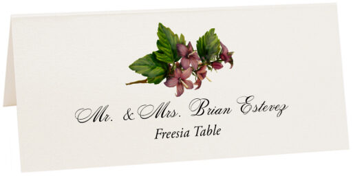 Photograph of Tented Freesia Place Cards