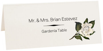 Photograph of Tented Gardenia Place Cards