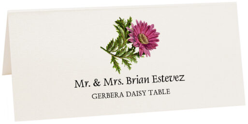 Photograph of Tented Gerbera Daisy Place Cards