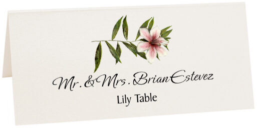Photograph of Tented Lily Place Cards