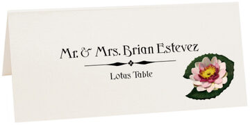 Photograph of Tented Lotus Place Cards