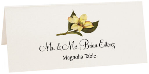 Photograph of Tented Magnolia Place Cards