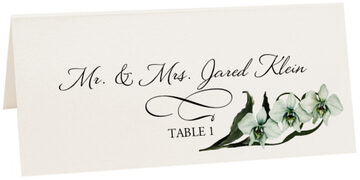 Photograph of Tented Orchid Assortment Place Cards
