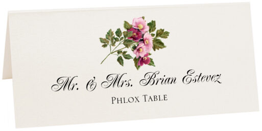 Photograph of Tented Phlox Place Cards