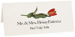 Photograph of Tented Red Tulip Place Cards