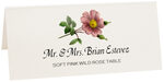 Photograph of Tented Soft Pink Wild Rose Place Cards
