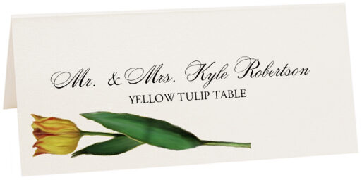 Photograph of Tented Tulip Bulbs Place Cards