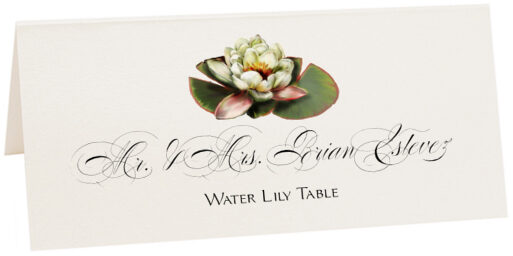 Photograph of Tented Water Lily Place Cards