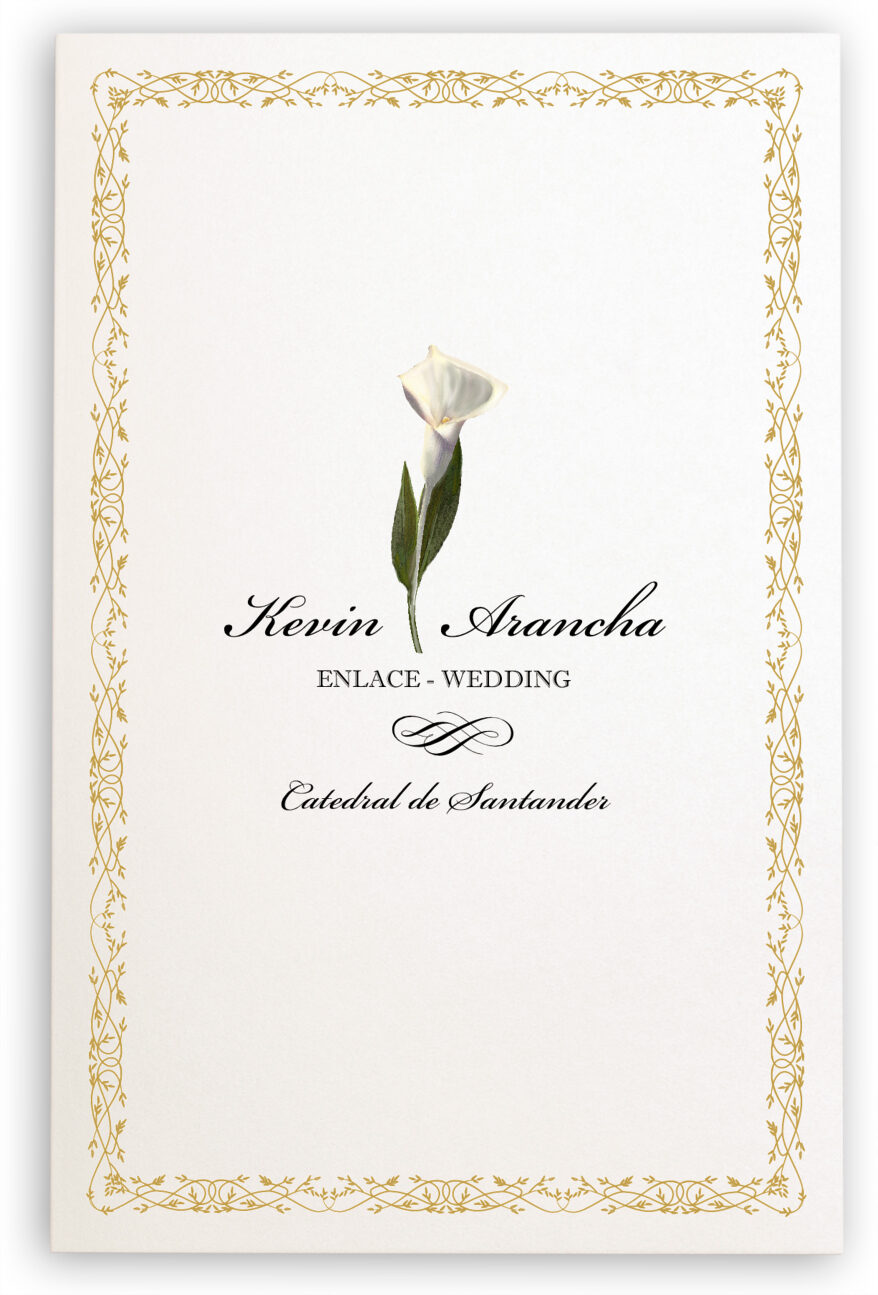 Photograph of Calla Lily Divider Wedding Programs