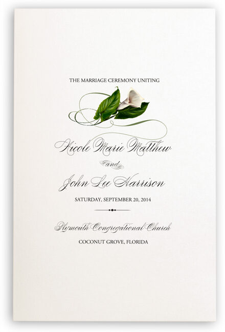 Photograph of Calla Lily Swirl 02 Wedding Programs
