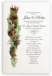 Photograph of Orchid Cascade Wedding Programs