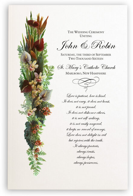 Photograph of Orchid Cascade Wedding Programs