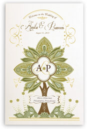 Photograph of Paisley Forest Tree Wedding Programs