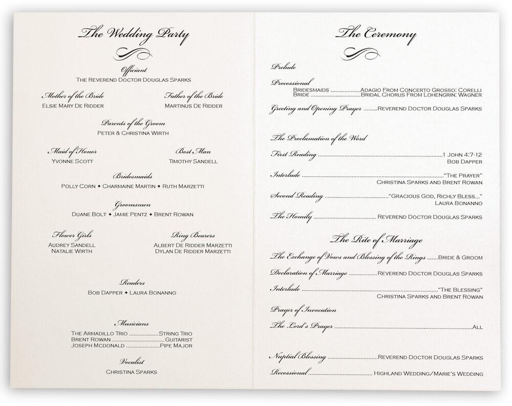 Photograph of Rose Garden Wedding Programs