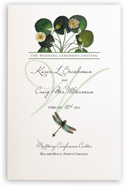 Photograph of Water Lily Patch Wedding Programs