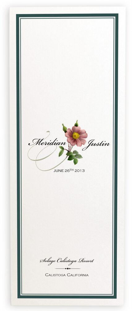 Photograph of Wild Pink Rose Swirl Wedding Programs