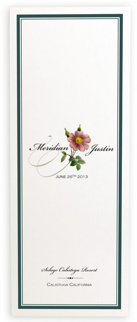 Photograph of Wild Pink Rose Swirl Wedding Programs