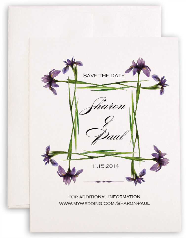Photograph of Iris Square Save the Dates