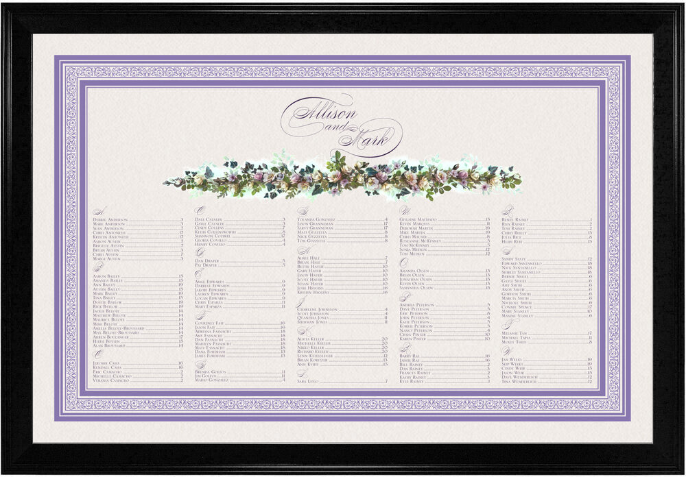 Photograph of Lavenders Cascade Seating Charts