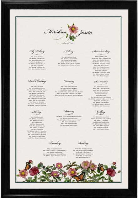 Photograph of Rose Garden Seating Charts