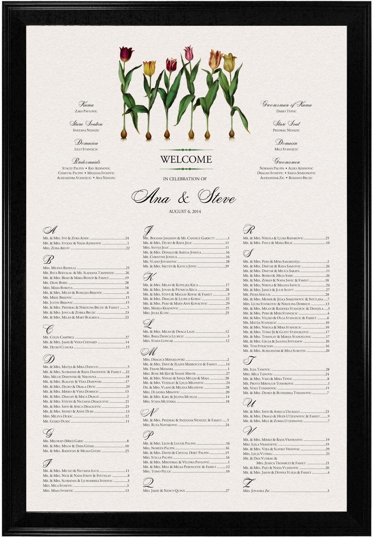 Photograph of Tulip Bulbs Seating Charts