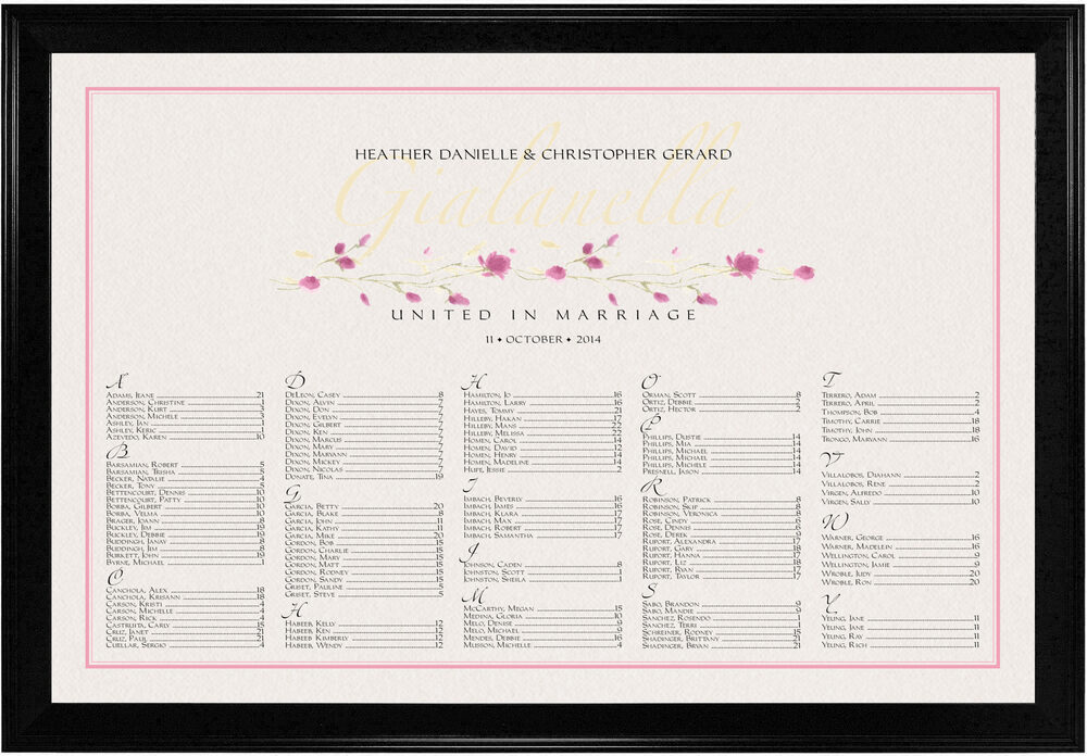 Photograph of Wispy Rose Bud Seating Charts