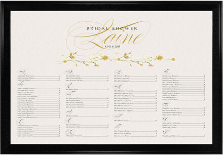 Photograph of Wispy Yellow Rose Bud Seating Charts
