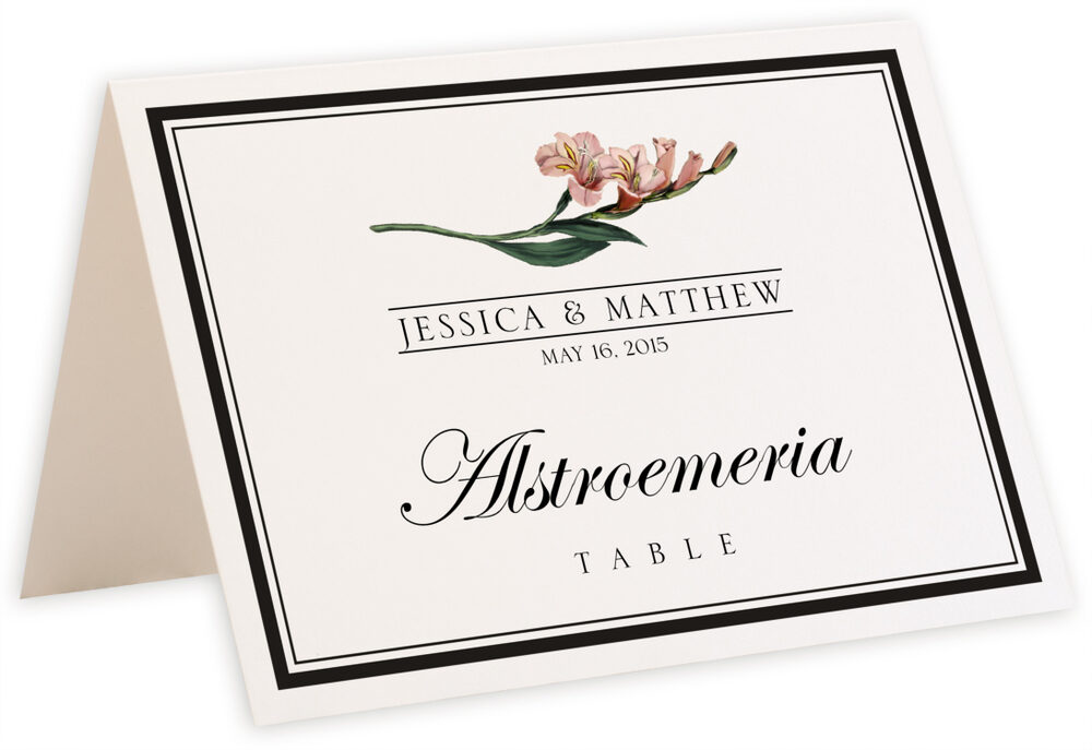 Photograph of Tented Assorted Flowers and Monogram Table Names
