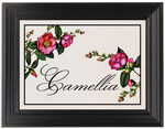 Framed Photograph of Camellia Table Names