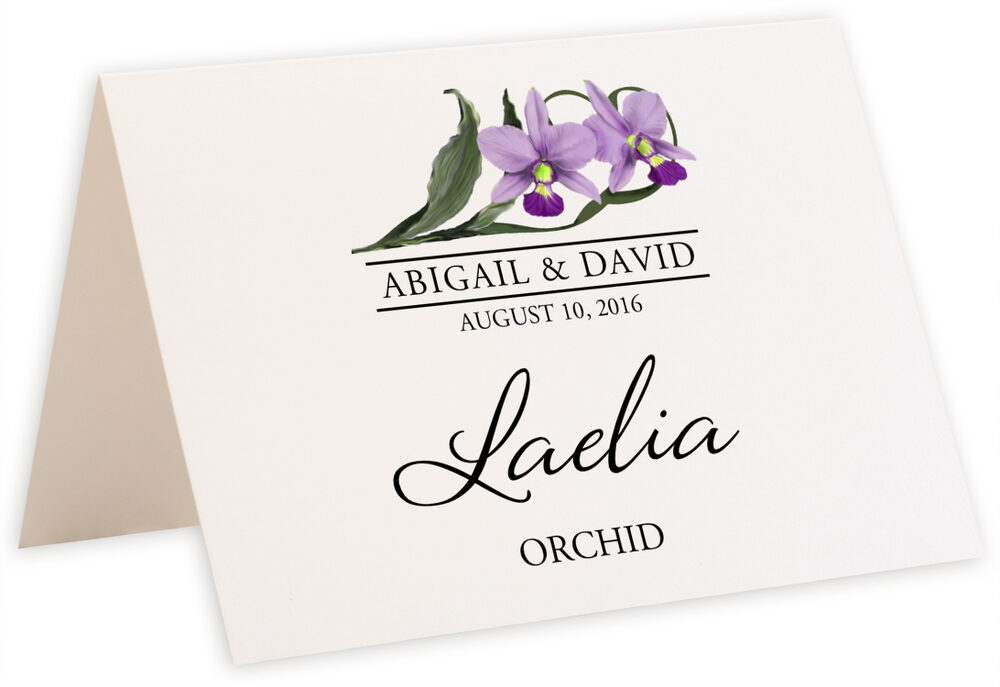 Photograph of Tented Orchid Assortment Table Names