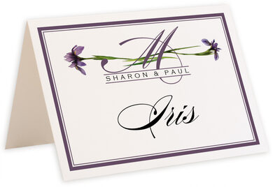 Photograph of Tented Wispy Iris Table Names