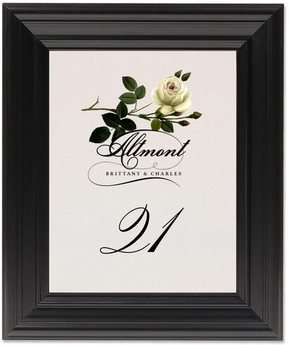 Framed Photograph of Roses Assortment Table Numbers