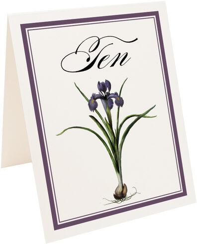 Photograph of Tented Iris Bulb Table Numbers