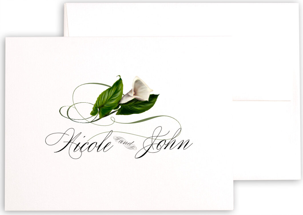Photograph of Calla Lily Swirl Thank You Notes