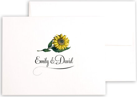 Photograph of Sunflower Thank You Notes