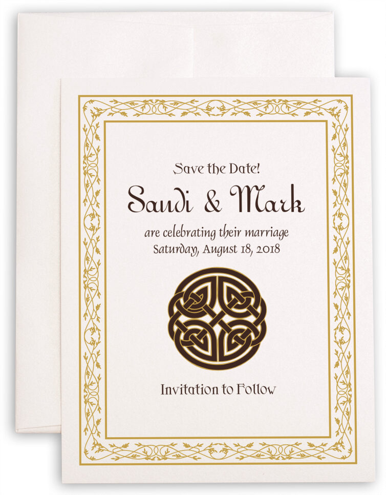 Photograph of Celtic Knot Save the Dates