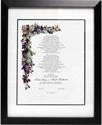 Photograph of Fruit and Butterflies Wedding Certificates