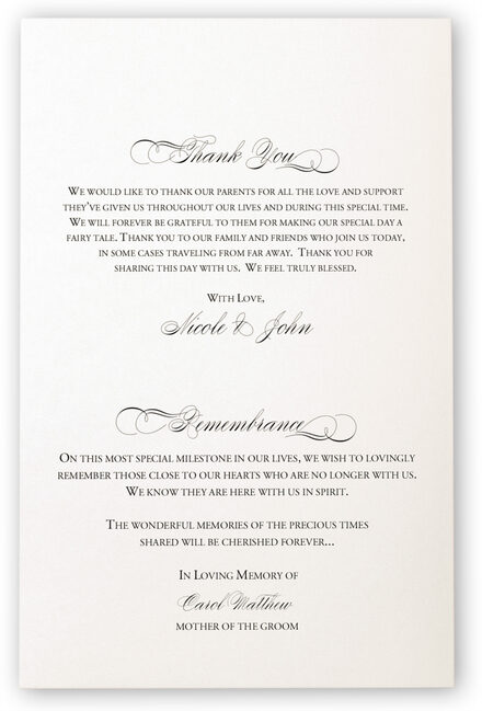 Photograph of Two Pears Wedding Programs