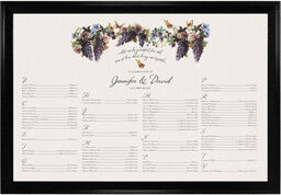 Photograph of Blue Grapes and Butterflies 2 Seating Charts