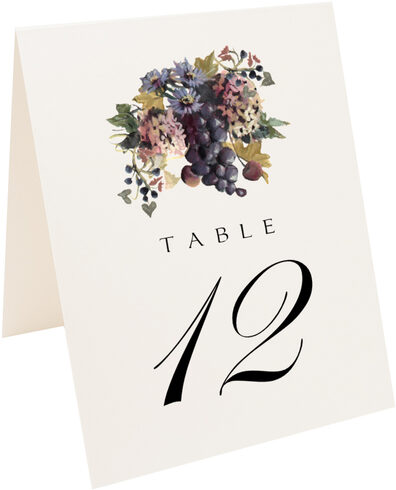 Photograph of Tented Blue Grapes and Chicory 01 Table Numbers