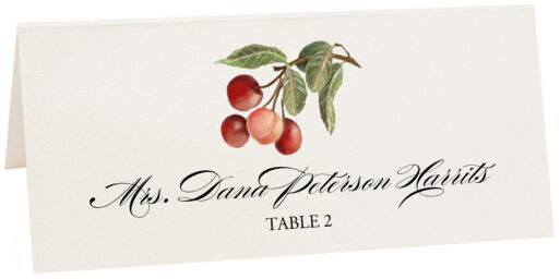 Photograph of Tented Cherries Place Cards