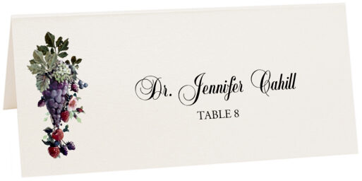 Photograph of Tented Grapes and Berries Place Cards