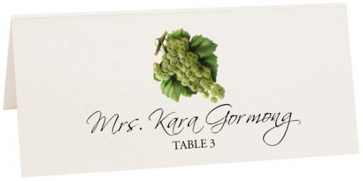 Photograph of Tented Green Grapes Place Cards
