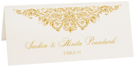 Photograph of Tented Paisley Power Place Cards