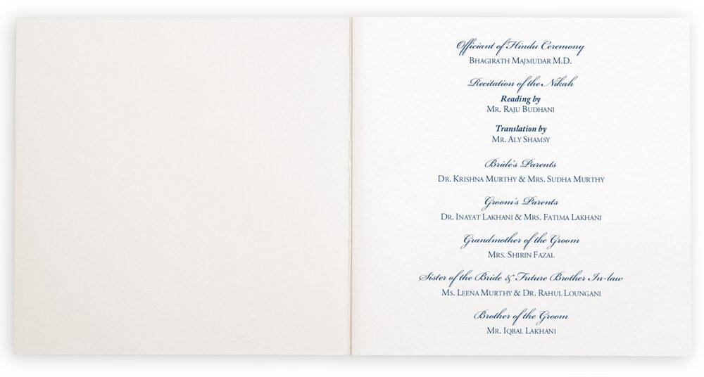 Photograph of Aum Watermark Wedding Programs