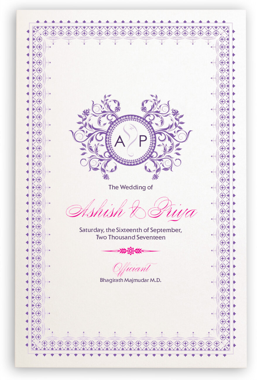 Photograph of Gingee Ganesha Wedding Programs