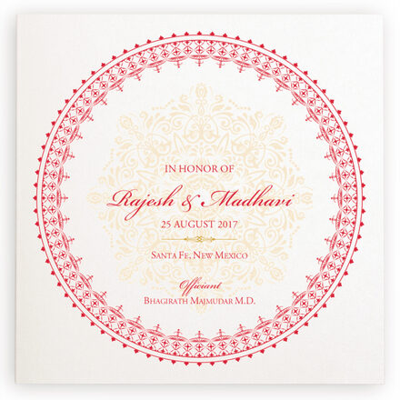 Photograph of Henna Watermark Wedding Programs