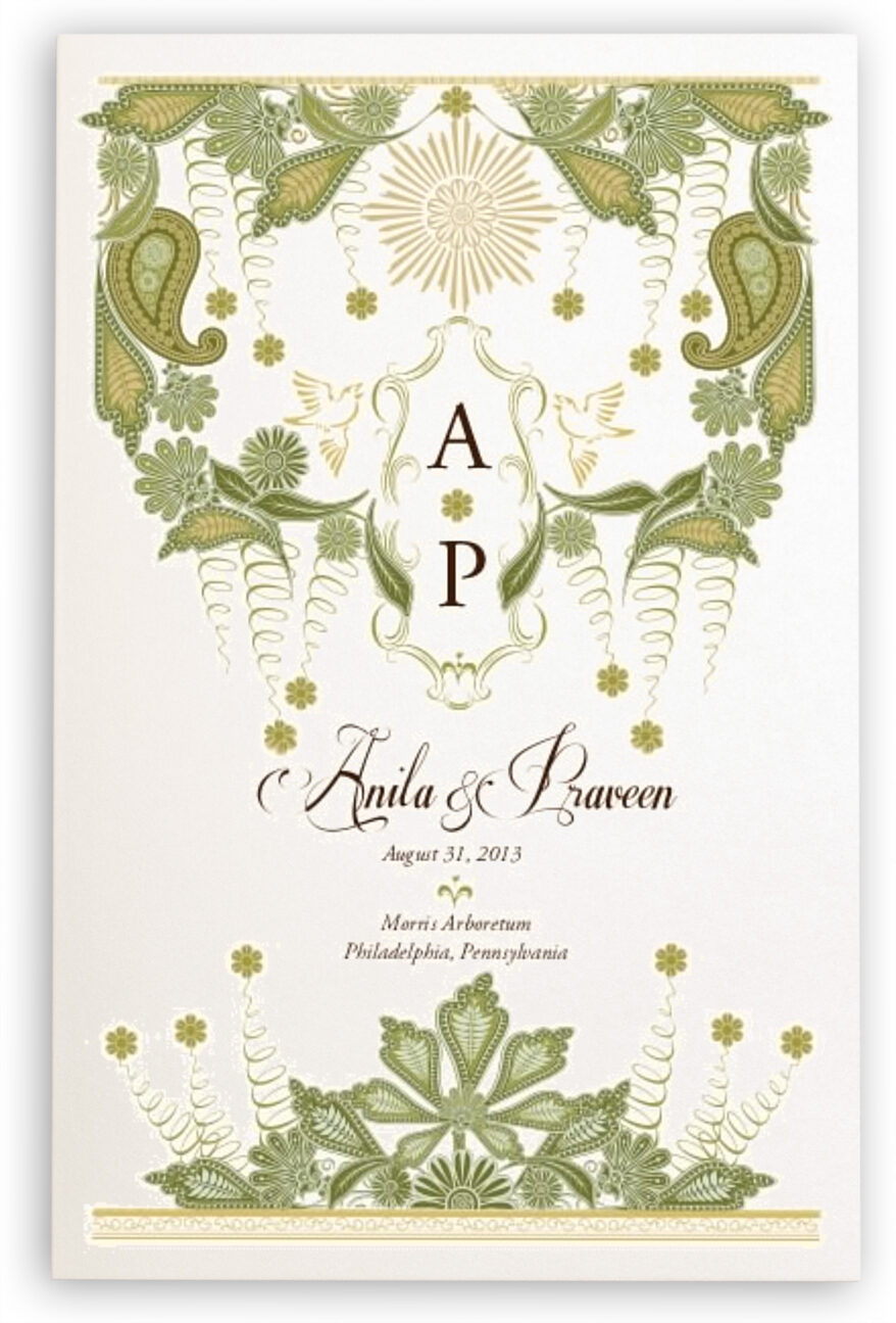 Photograph of Paisley Forest Wedding Programs