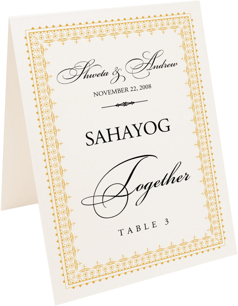 Photograph of Tented Hindi Sentiments Table Names